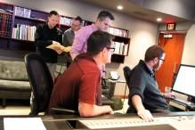 Team CRIMSON working hard at Trevor Morris Studios.